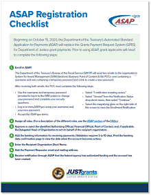 ASAP Registration Checklist
